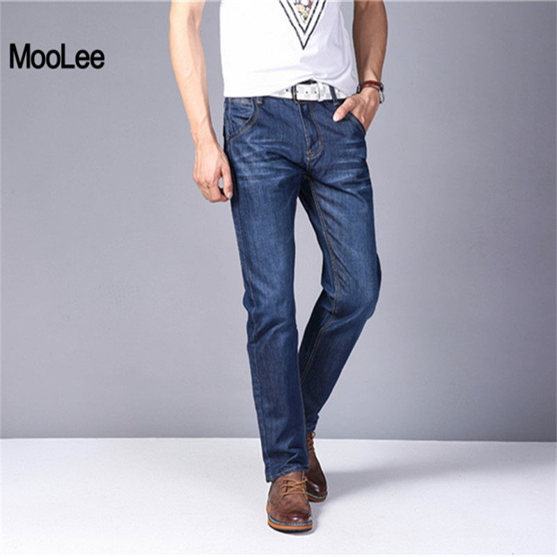 2017 Jeans Men Thin Light Cotton Denim Fashion BrandJeans Casual Middle Waist Loose Long Pants Summer Solid Straight Slim Jeans fongimic new men clothing summer thin casual jeans mid waist slim long trousers straight high quality men s business denim jeans