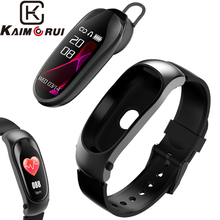 Smart Bracelet Bluetooth Headset Heart Rate Monitor Band Tracker Watch Answer Call Fitness Headphone for Men