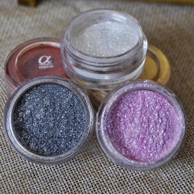 Kwaliteit Wit Shimmer Glitter Oogschaduw Poeder Pigment Kleurrijke Make Minerale Gezicht Cosmetica Paars Zilveren Oogschaduw Poeder