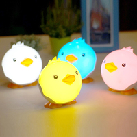 Cartoon Duck Night Light Eye Protection LED Table Lamp Touch Switch Kids Bed Desk Table Lamp Christmas Gift Small Night Light
