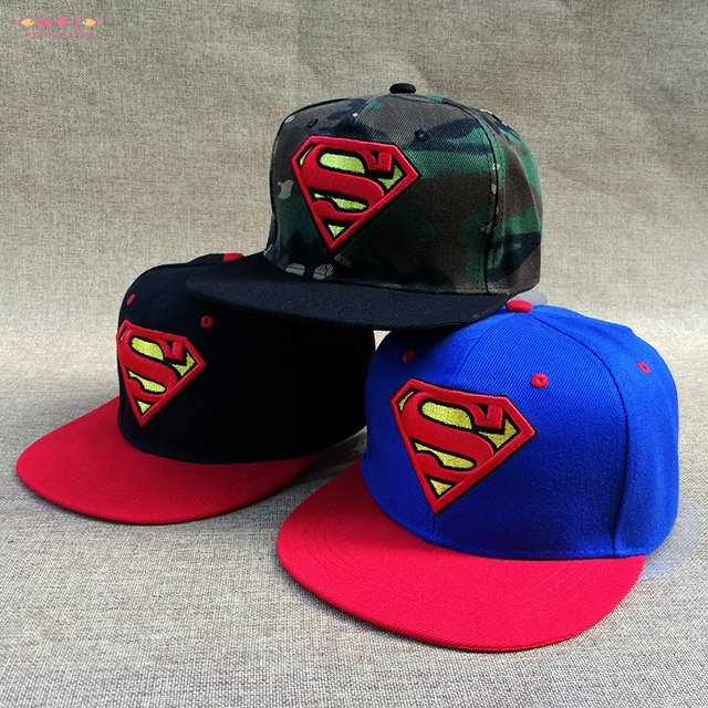Men women custom Marvel cartoon superman S snapback caps and hats adult  cotton embroidery hip hop gorras db55d3818407