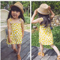 2017 SPRING SUMMER BABY GIRL CLOTHES GIRLS LEMON PATTERN DRESs FOR GIRLS BOBO CHOSES VETEMENT ENFANT CLEAR THE STOCk special