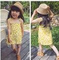 2017 primavera verano ropa de bebé niña niñas patrón de lemon dress for girls bobo choses vetement enfant borrar la acción especial