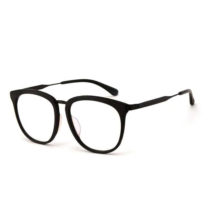 Große Holz brillen rahmen Optische azetat gläser oversize ...
