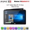 En la Acción! pipo x9 mini pc android4.4 windows10 arranque dual de 8.9 pulgadas de la tableta mini pc intel z3736f quad coremini bt4.0 ordenador hdmi