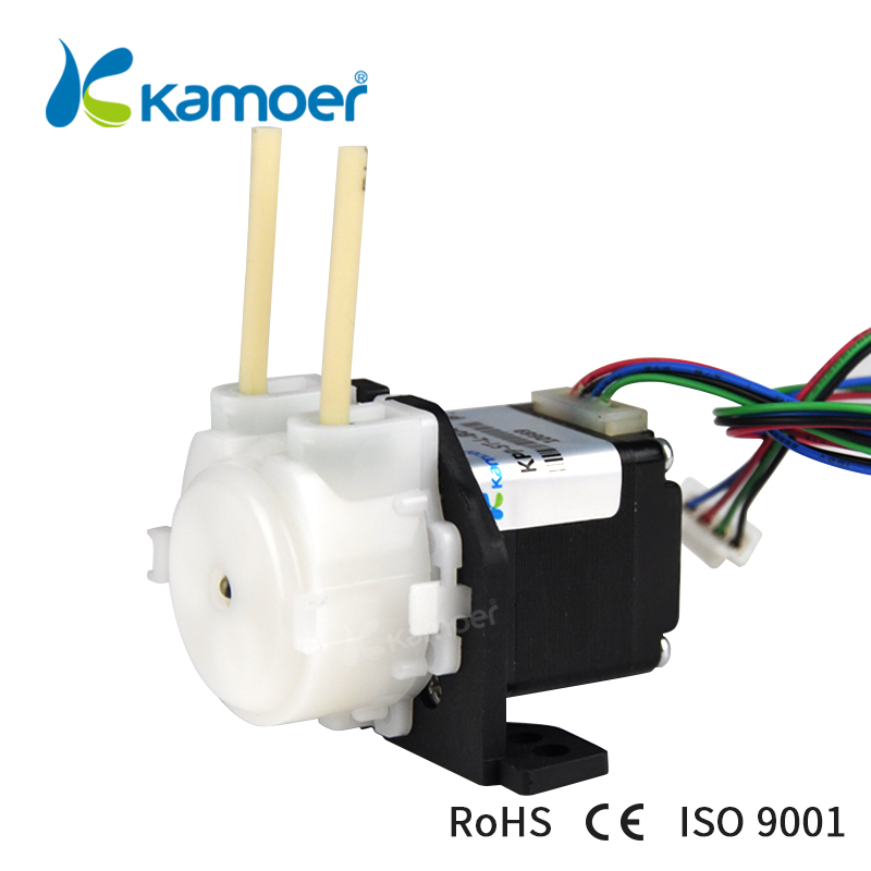 kamoer stepper motor DC pump 24V mini water pump with Silicon tubing kamoer khs peristaltic pumpthe newest cost effective dc brush motor water pump with silicon norprene tubings