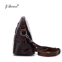 J Quinn Male Messenger Bags Genuine Leather Alligator Mens Shoulder Women Female Crossbody Bag Female Crocodile