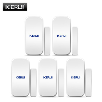 Asli Kerui D025 433 MHz Nirkabel Jendela Pintu Magnet Sensor Detector untuk Home Wireless Alarm System