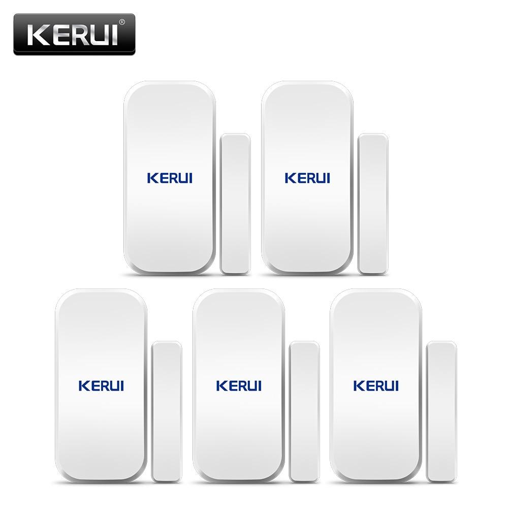 Asli Kerui D025 433MHz Nirkabel Jendela Pintu Magnet Sensor Detector untuk Home Wireless Alarm System