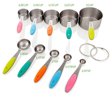 High quality Stainless Steel Measuring Spoons Ten Sets of Seasoning Spoon Baking Scale Kichen Tool for Cooking