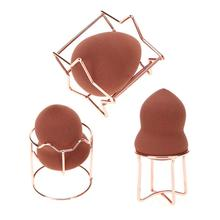 1PCS Alloy Makeup Cosmetic puff holders rack Beauty Egg Powd
