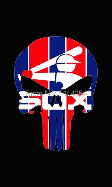 Chicago White Sox череп вертикальные флаги 3x5ft MLB баннер 100d полиэстер флаг латунные прокладки, бесплатная доставка