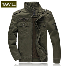 TAWILL Men jacket jean military Plus 6XL army soldier cotton Air force one male Brand clothing Spring Autumn Mens jackets 8331(China)