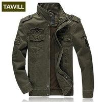 TAWILL Hombres chaqueta de jean Plus 6XL ejército militar soldado algodón Air force one hombres Marca de ropa de Primavera Otoño chaquetas Para Hombre 8331