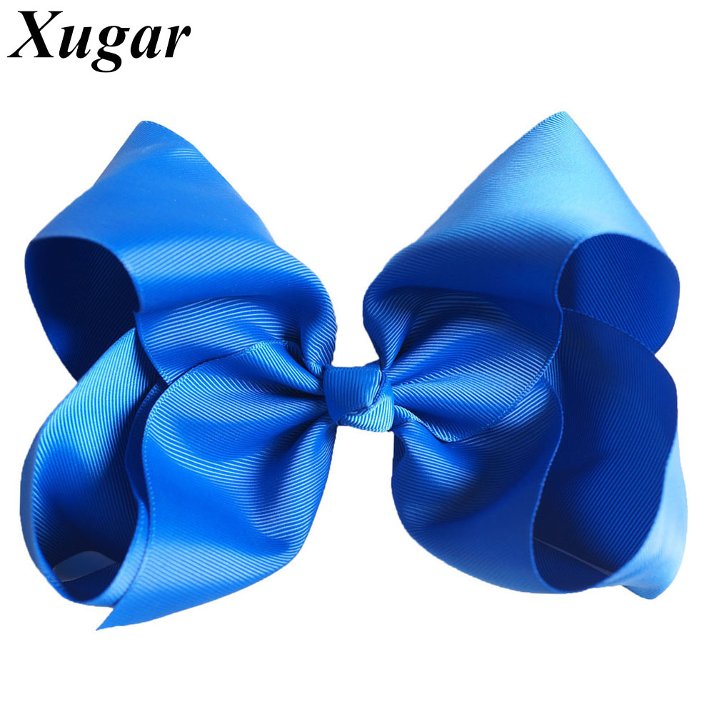 8 Large Grosgrain Ribbon Hair Bows Hairpins Barrette Bowknot Headwear Solid Children Hair Clip For Girls Hair Accessories 2017 new styling tools accessories girls headwear hairpin hair claws clamp hair clip barrette for women extra large black brown