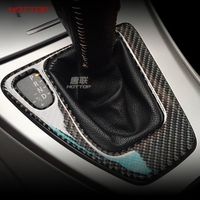 Para bmw e90 e92 Interior recortado fibra de carbono engranaje cambio de Control Panel cubierta pegatina LHD RHD coche estilo 3 series accesorios|Pegatinas para coche|   -