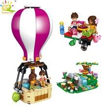 HUIQIBAO TOYS 260pcs Friends Series Touring Balloon Building Blocks For Girl Compatible Legoingly Heartlake City House Bricks