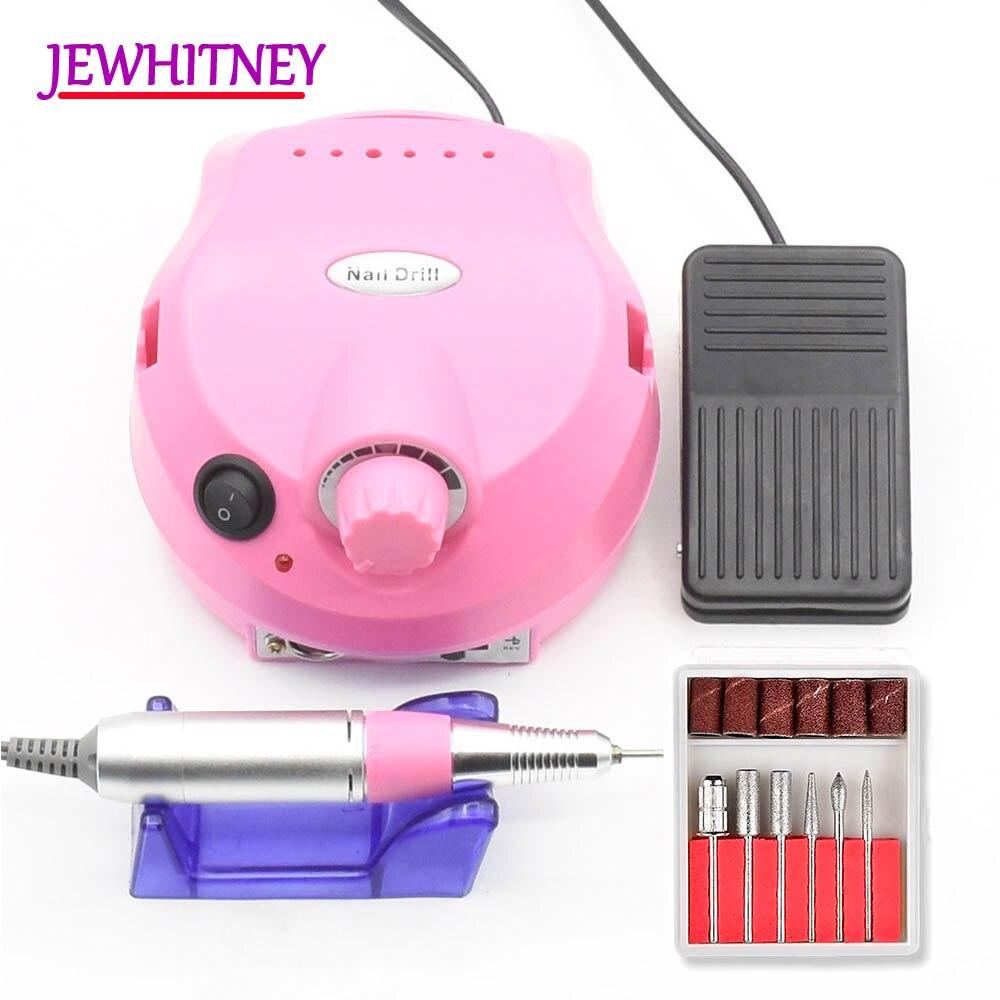 Pro de clavo eléctrico máquina de perforación de acrílico 15 W 30000 RPM de archivo taladro manicura pedicura equipo de arte para uñas