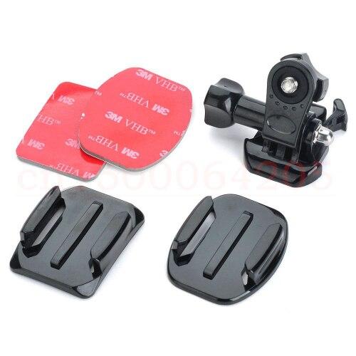 Plano curvo adhesivo montaje en trípode para xiaomi Yi acción CAM as15 as30 as100v Rollei básica Accesorios