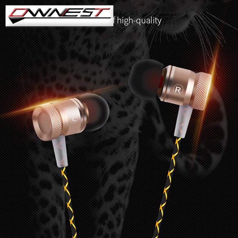 OWNEST 3.5mm En la oreja Con Aislamiento de Ruido de ALTA DEFINICIÓN Auriculares