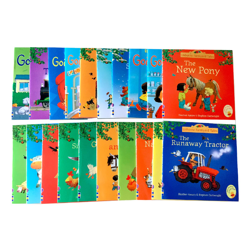 20pcs/set 15x15cm Usborne Picture Books For Children And Baby Famous Story English Tales Series Of Child Book Farm Story