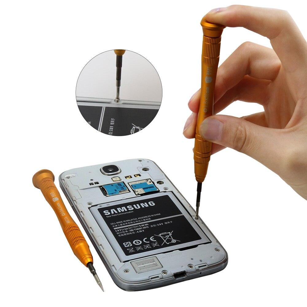 50 шт./партия, BST-8877A Магнитный прецизионный пентаалобль, щелевой, Torx и Philips для iphone и других ремонтных телефонов