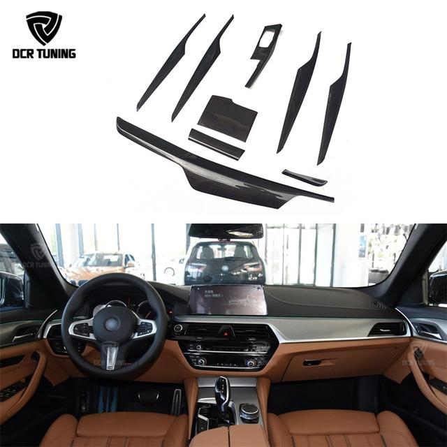 US $89 32 23% OFF|For BMW 5 Series G30 G38 Carbon Fiber Interior Trim Cover  9 pcs/Set Gloss Black Carbon Trim 2017 + Only Left Hand Drive-in Interior