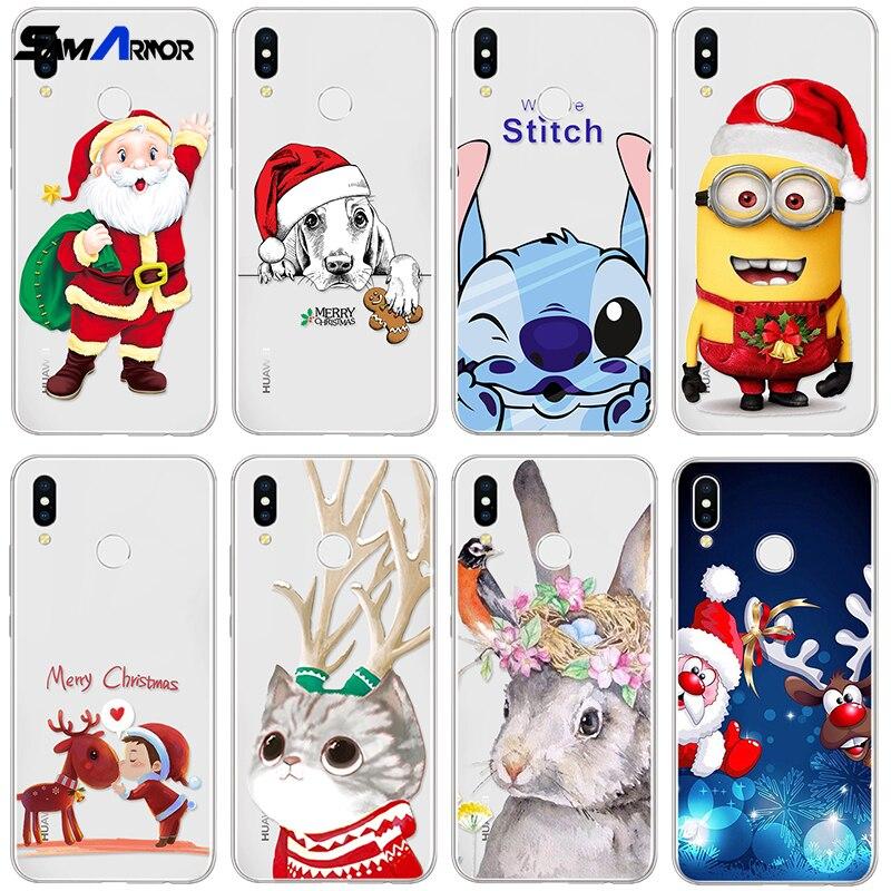 Christmas TPU Case Coque For Huawei P8 P9 P10 P20 Lite Mini P20 Pro P Smart Nexus 6P Clear Cover For Huawei Nova 3 3I Funda