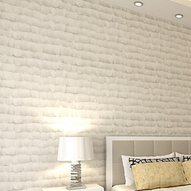 Modernen Minimalistischen Non Woven Feder Tapete Schlafzimmertapete Wand TV  Hintergrund Wand