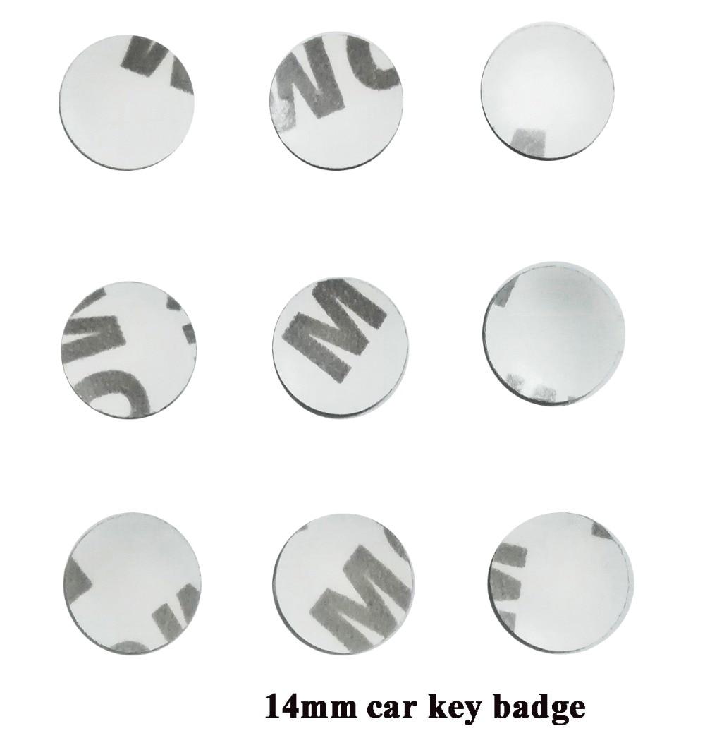 14mm car key logo sticker car control key logo