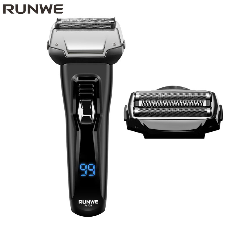 Runwe Portable Rechargeable Electric shaver for men Electric Razor for men 220V home appliances Razor Machine for Men shavers braun electric shavers series 3 3000s rechargeable microcomb technolodge close shaver razor blades for men high grade