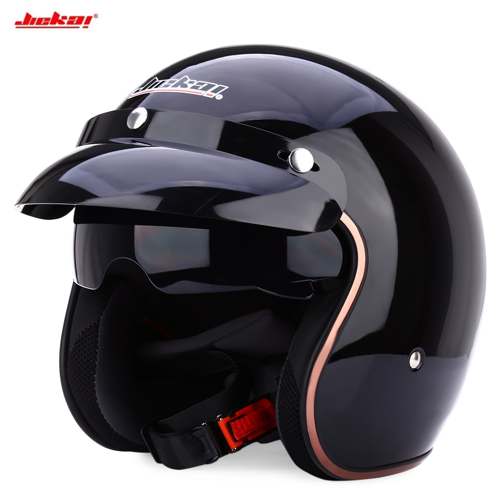 NEW JIEKAI Universal Motorcycle Helmet Retro Open Face Cold Protection Safe Riding Scooter Headpiece with Visor
