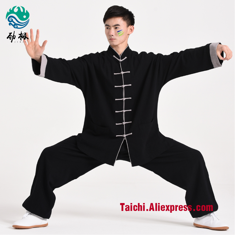 Handmade Linen Tai Chi Uniform Wushu, Kung Fu,martial art Suit  Wing Chun Uniform Chinese style painted handmade linen tai chi uniform taijiquan female clothing summer short sleeved wushu kung fu jacket pants