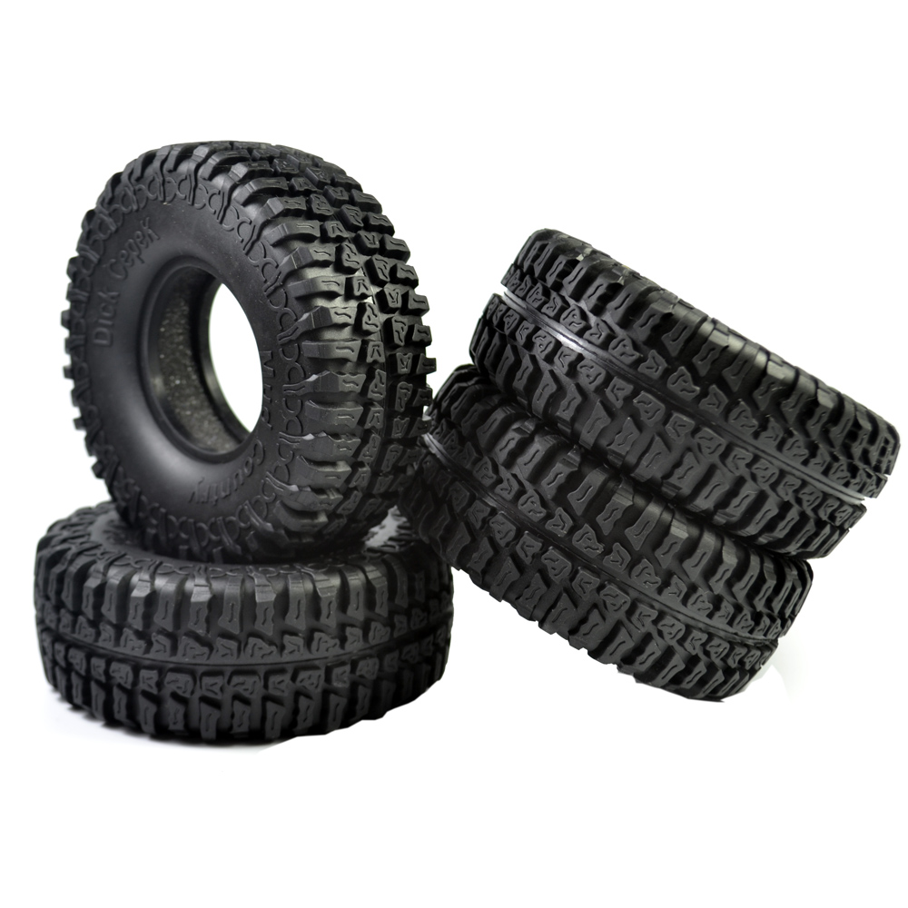 1/10 Scale Tires for 1.9inch 100mm RC Tires Rubber Tyre for Rc Crawler RC4WD Axial SCX10 D90 1.9 Wheels 4pcs 4pcs rc crawler truck 1 9 inch rubber tires
