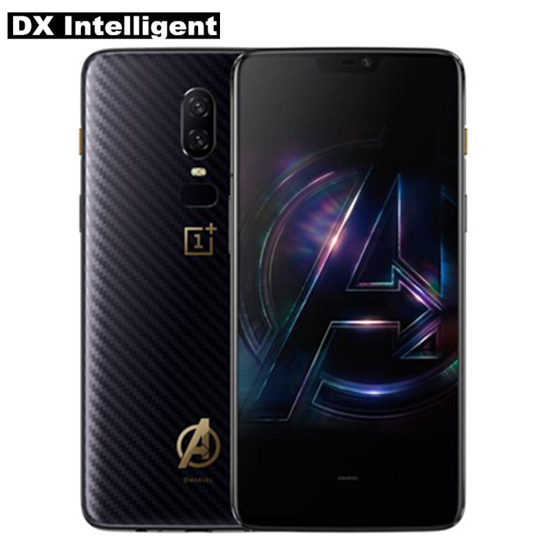 "Original Oneplus 6 Avengers 8GB 256GB Snapdragon 845 Octa Core Mobile Phone 6.28"" Inch 20MP+16MP Dual Camera NFC Android 8 Face"