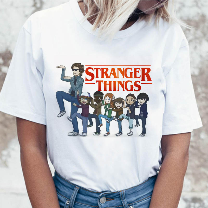Stranger Things Season 3 Eleven   T     Shirt   Women Top Tee   Shirts     T  -  shirt   funny 80s 90s Graphic Harajuku Dustin Female Tshirt