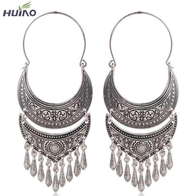 Big Face Zinc Alloy Retro Design Antique Silver Bronze Plated Dangle