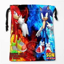 t#!f94 New Cool Sonic Custom Printed receive Bag Compression Type drawstring bags size 18X22cm 7&12ft-f94(China)