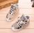Crianças sapatilhas olá kitty lazer encantador bowknot menina sapatos da marca primavera outono sapatos desenhos animados 26--30 LED brilho