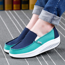 купить Women Flat Platform Shoes Woman Loafers Casual Women's Slip On Swing Moccasin Ballet Female Flats Canvas Shoes Zapatos De Mujer дешево
