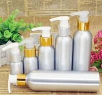 wholesale gold and silvery 50ml,10pcs/lot,long beaker aluminum bottle,bath foam liquid shampoo emulsion, toner bottle