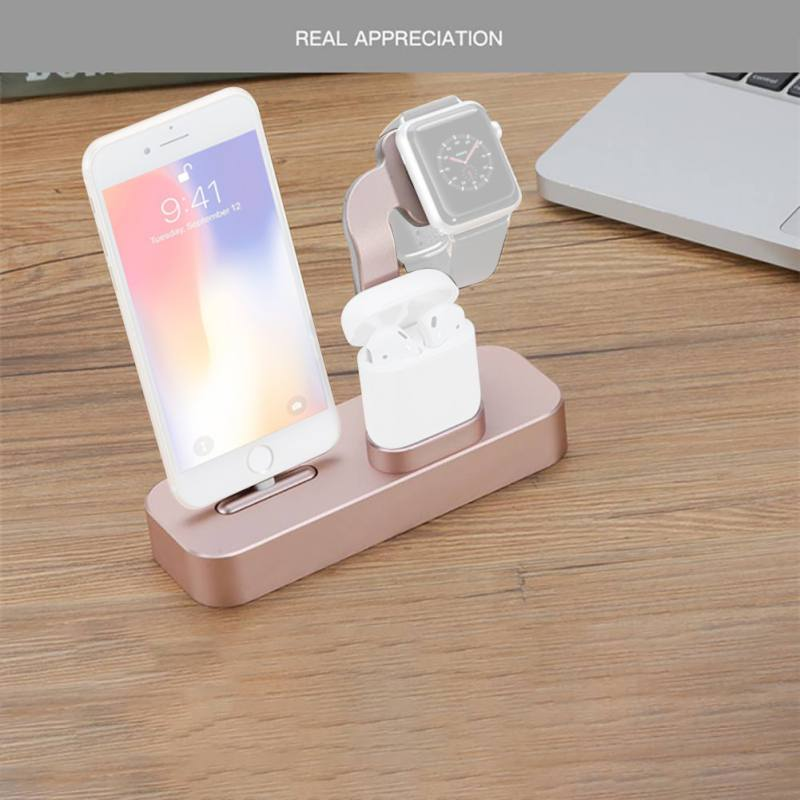 High Quality Charger Charge Stand Dock for Apple Watch Airpods iPhoneX/XR/8/7 Devices