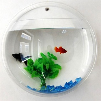 Acrylic Fish Bowl Wall Hanging Aquarium 2