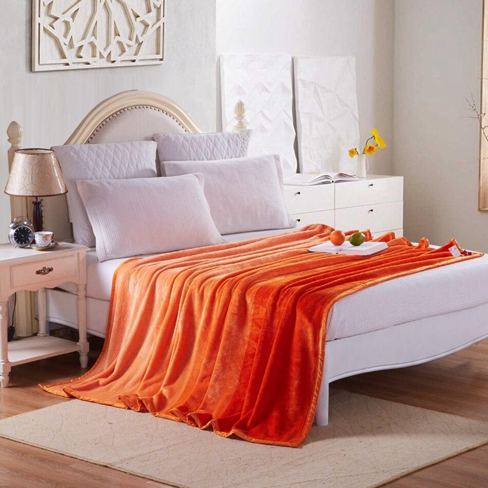online get cheap orange throw blanket aliexpresscom  alibaba group - orange fleece blanket on the bedsolid color throw blankets foradultsmulti