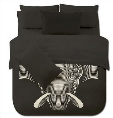 striped Bedding Southeast Asia Elephant teen boys adult print black bed  comforter duvet cover sets polyester cotton 3 4pcs home. Bed Comforter Cover Promotion Shop for Promotional Bed Comforter