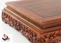 Red Sandalwood Wood Carving Household Act The Role Ofing Is Tasted Buddha Vase Flowerpot Handicraft Furnishing