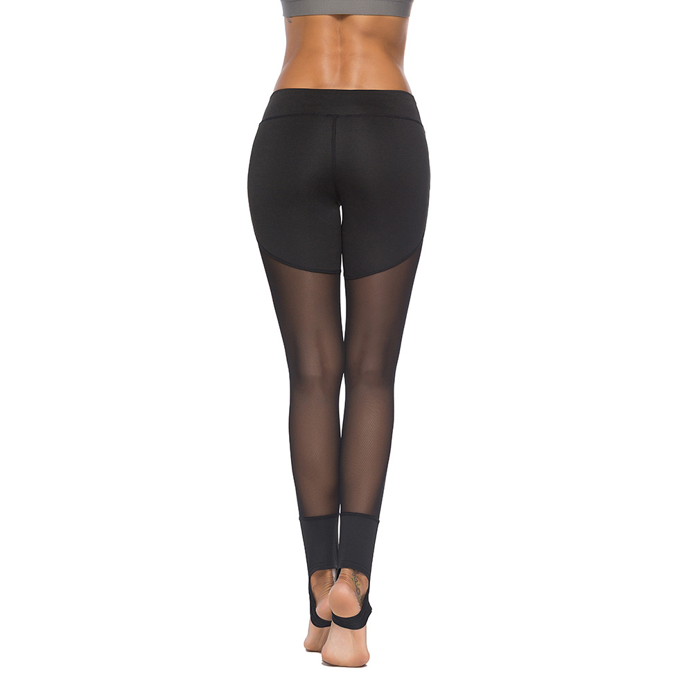 Eshines Mesh Yoga Leggings Black Women Fitness Sportswear -4504