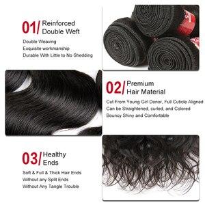 Image 3 - Гладкие бразильские волнистые пряди для волос 8   28 30 дюймов бразильские волнистые человеческие волосы для наращивания без Реми 1/3/4 пучок предложения Бесплатная доставка