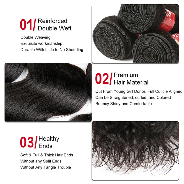 Sleek Brazilian Hair Weave Bundles 8 to 28 30 Inch Brazilian Body Wave Remy Human Hair Extension