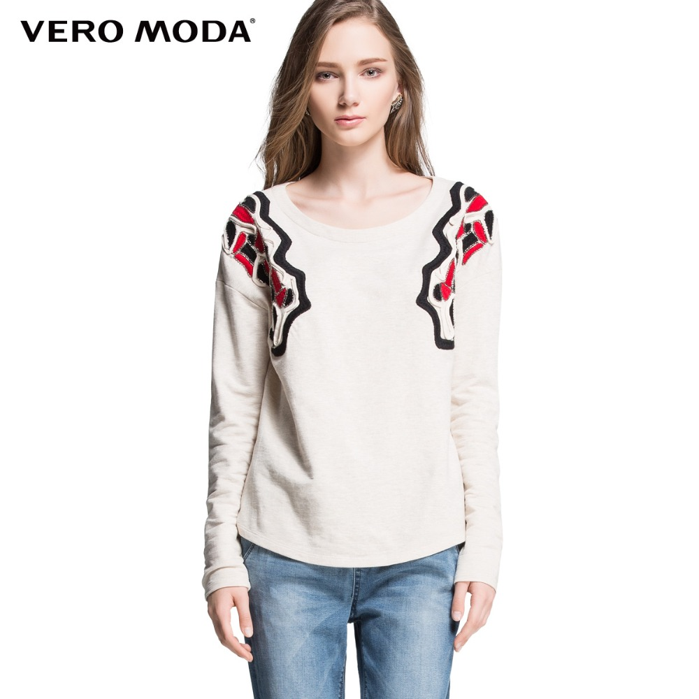Vero Moda Brand hot Women Fashion Sweet Comfortable Cotton Casual knitted Sweater Ladies Pullovers Girls coat
